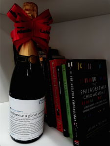 Bottle of bubbly to celebrate Raul's 1st first author publication!