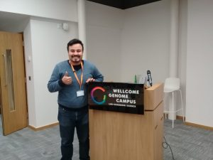 Christian at the Genomics for Dermatology course in Hinxton, UK!