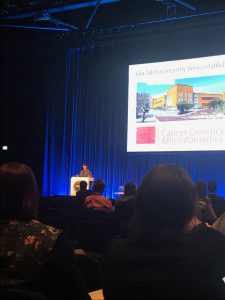 Daniela speaking at the International Congress of Society for Melanoma Research in Manchester, UK